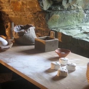 Mclellans Castle kitchens, Breadmaking table