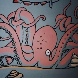 Octopus detail, Britannia mural