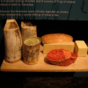 Food ration replicas, Prisons of War, Edinburgh Castle