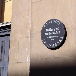 Gallery of Modern Art plaque