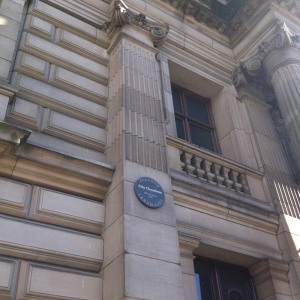 City Chambers plaque