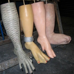 Ugly Feet, squashable - sculpted, moulded & cast in soft foam