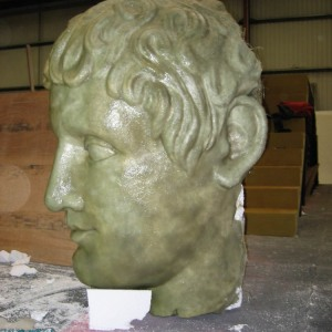 Minotaur head in fibreglass -2004 Designer Finlay McLay