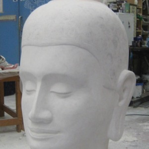 Tamerlano head in polystyrene