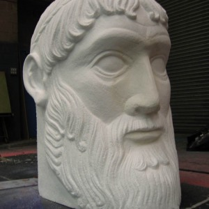 Minotaur head in polystyrene - 2004 Designer Finlay McLay