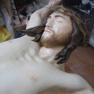 Neds 2010 - Jesus statue detail in studio