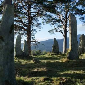 Craig – na-dun standing stones