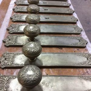 Cold cast bronze door furniture