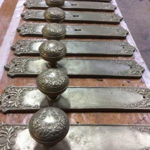 Cold cast bronze door furniture