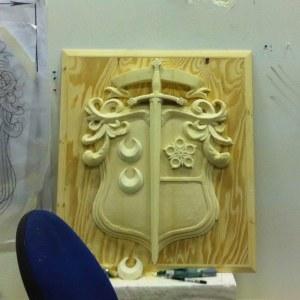 Lallybroch coat of arms in progress