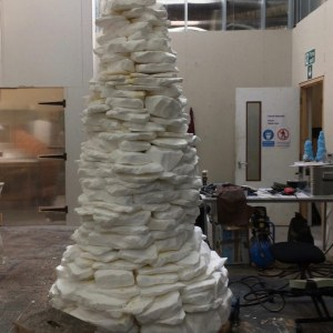 Cairn in construction