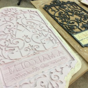 Printshop sign mould