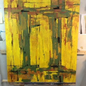 60s abstract painting for vicarage set
