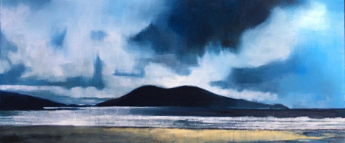 Landscape painting - Traigh Lar - Harris